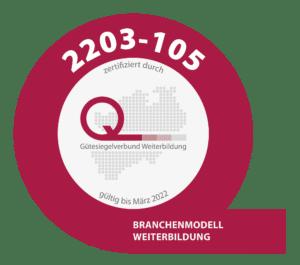 Zertifikat Gütesiegelverbund Weiterbildung DenkArbeit.Ruhr